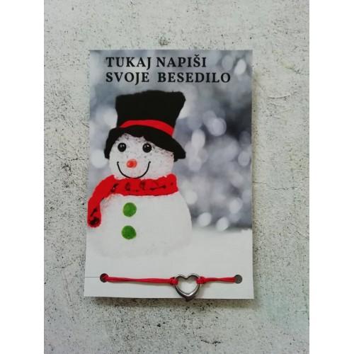 Zapestnica s tvojim besedilom Snežak