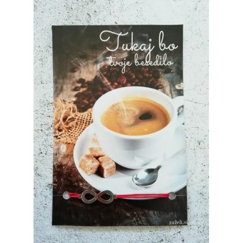 Zapestnica s tvojim besedilom Kava